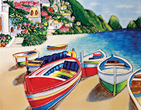 Colourful Boats Ii